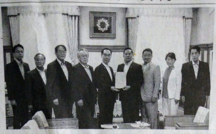 県議会八高線・川越線沿線活性化議員連盟から大野知事へ要望書を提出