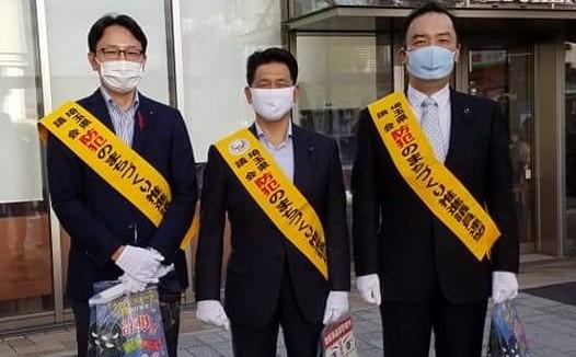 防犯まちづくり推進議連による街頭キャンペーン