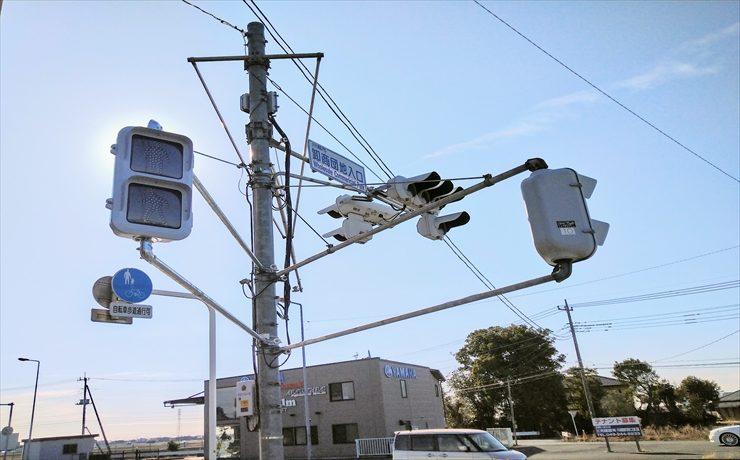 国道16号「卸商団地入口」交差点に歩行者用信号機が設置
